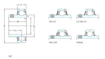 Cuscinetto YAR209-112-2RF SKF